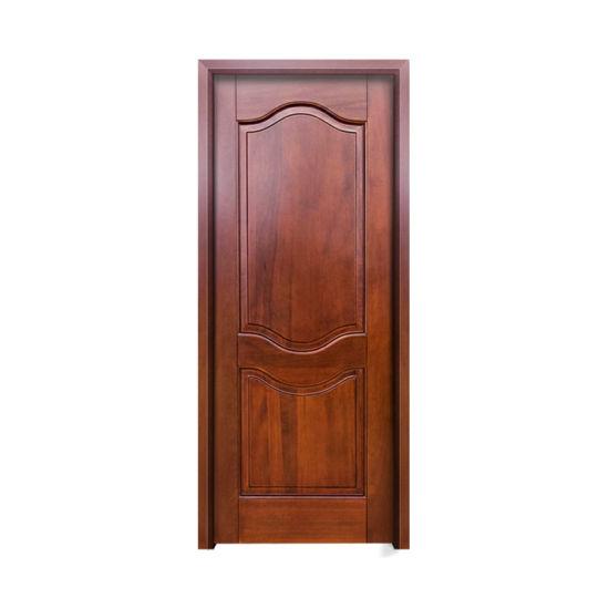 China Luxury Front Modern Wood Door Teak Solid Wood Door Designs