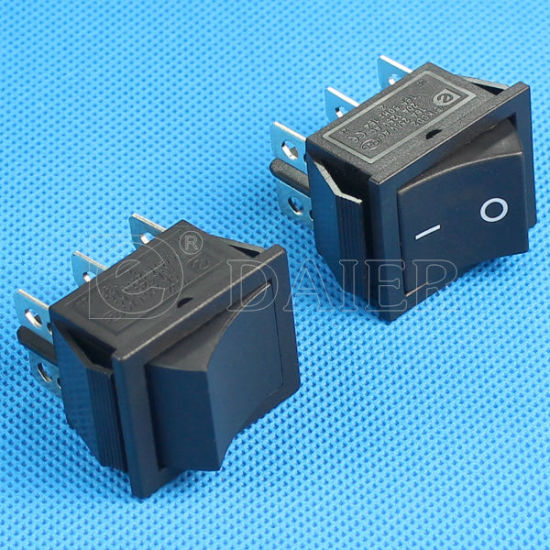 Black on on 6 Pins Rocker Switch pictures & photos