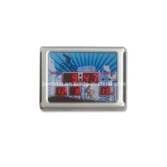 Led Digital Electronic Desk Alarm Clock With Calendar Temperature Display