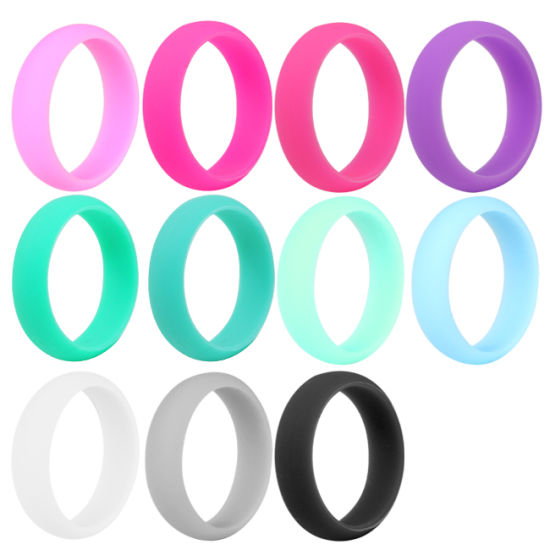 Silicone Rubber O Ring Wedding Rings for Mens and Womens
