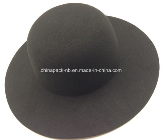 Classic Black Artificial Wool Lady's Hats (CPA_23011)