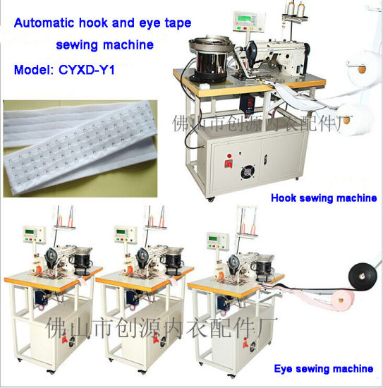 Automatic Hook and Eye Tape Sewing Machine (cyxd-y1)