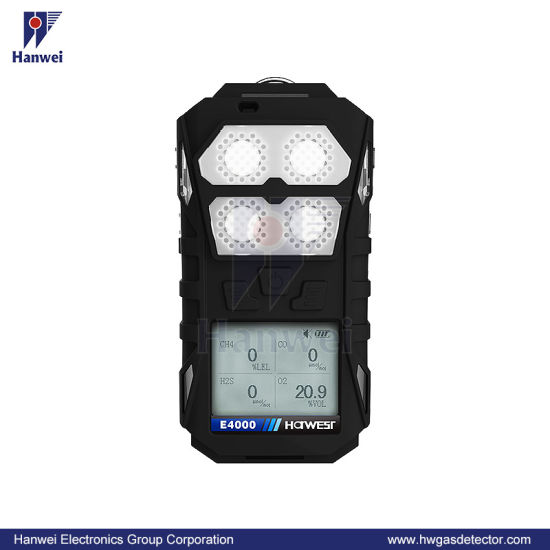 IP66 Portable Four-in-One Multi Gas Detector (E4000)