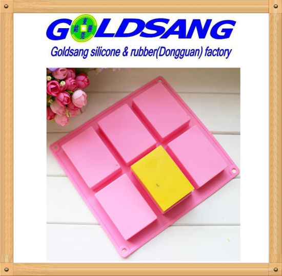 China 6 Rectangle Silicone Handmake Soap Mold &Cake Mold DIY