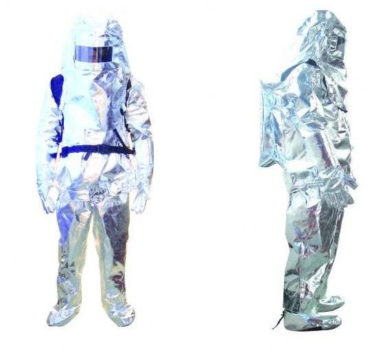 Solas Approved 800-1500 Degree Aluminum Foil Fire-Proof Suit Fire Resistant Suit for Fire Fighter