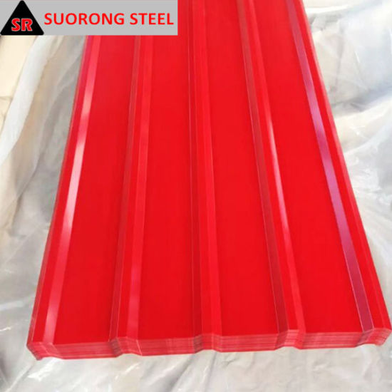 Color Coated Sheet Metal Corrugated Roofing Sheet