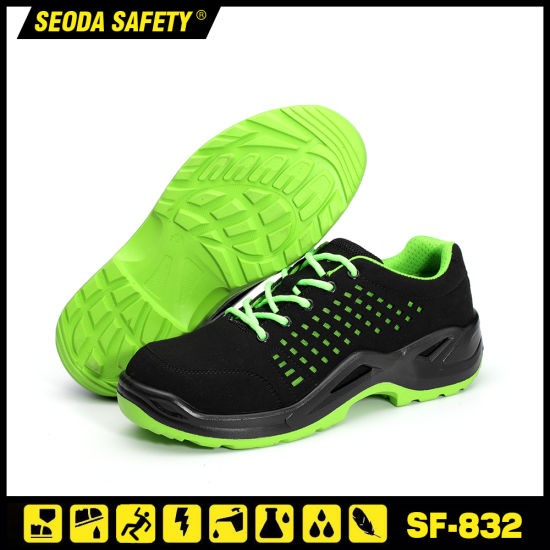 Non Metal Environmental Microfiber Leather Safety Work Shoe Boots