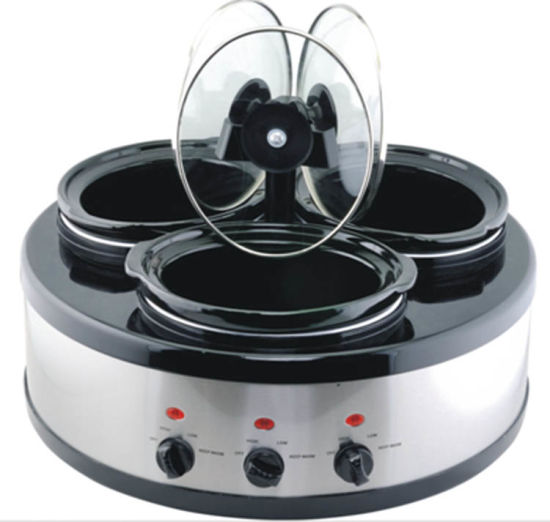 china 3 in 1 oval triple slow cooker warmer food warmer buffet rh wonhawk2013 en made in china com bella triple slow cooker buffet and serve triple slow cooker buffet and serve