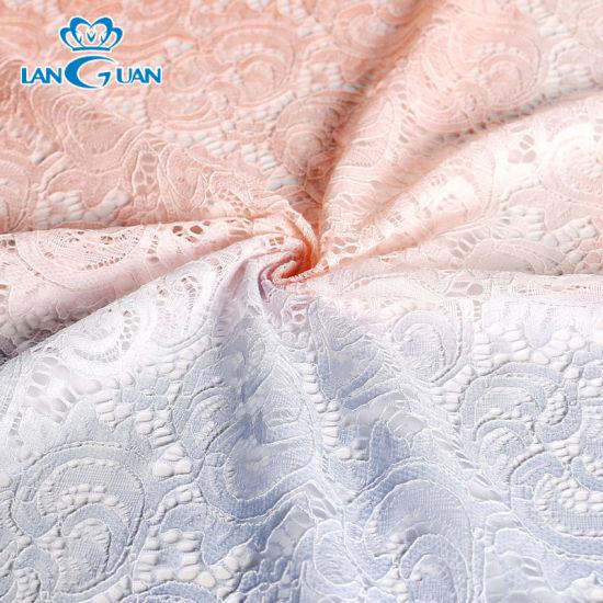Double Color Change Women Dress Luxury Lace Fabric