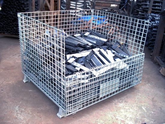 Collapsible and Galvanized Wire Mesh Cage Steel Cage Steel Storage Container