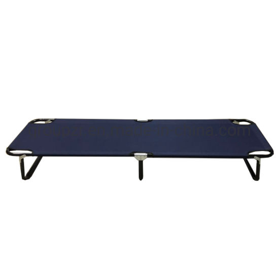 Wholesale High Quality Steel Custom Logo Lightweight Outdoor Folding Camping Bed