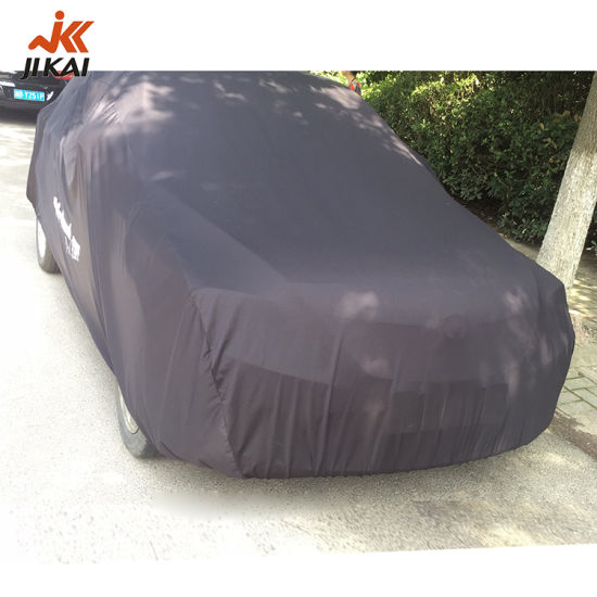 Protection Polyester Stretch Fabric Retractable Full Body Car Cover with Logo