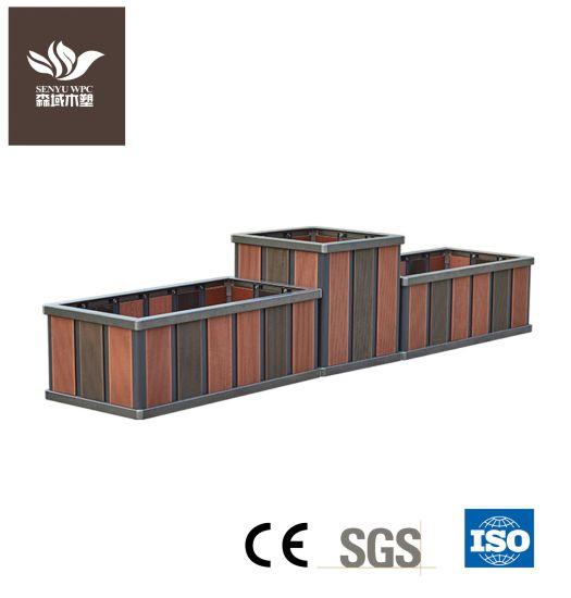 Garden Outdoor WPC Wood Plastic Composite Aluminium Alloy Flower Box Pot