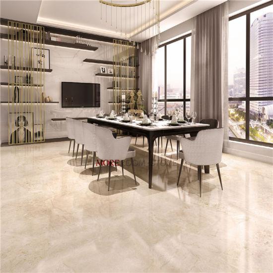 China Beige Glazed Ceramic Tile Floor Tiles Designs For Living