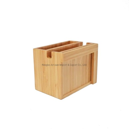 Multi-Functional Bamboo Photo Frame Writing Box Holder Pencil Case pictures & photos