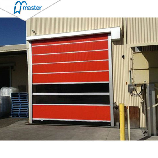 Industrial Automatic Security High Speed Rolling PVC Door for Warehouse