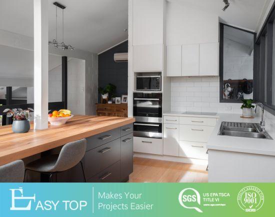 Modern Design Cheap Price Melamine Finishing MDF Door Finishing Custom Kitchen Cabinet