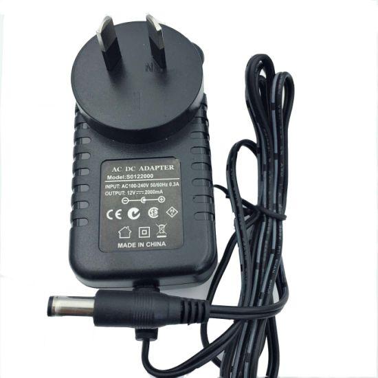 Australia Plug Ce CB SAA TUV C-Tick Certificate 24V1a 25W LED CCTV AC DC Switch Power Charger