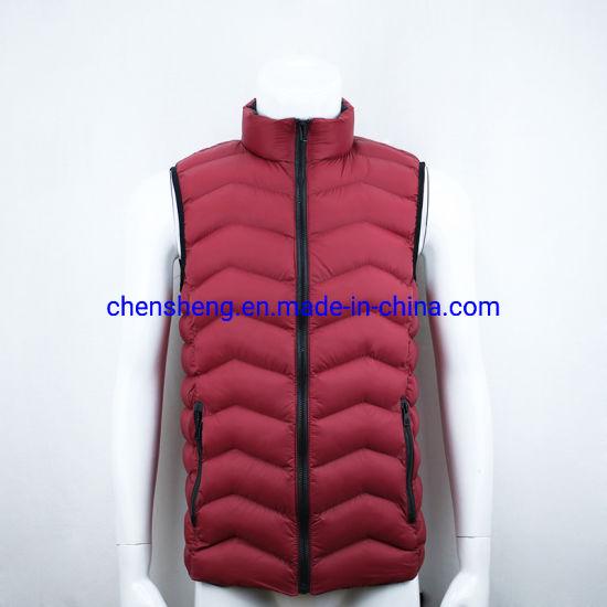 Stock Cheap Men Warm Vest for Winter Inner Cotton Down