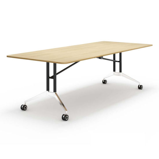 China Saving Space Office Meeting Room Melamine Foldable Conference - Fold away conference table