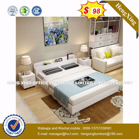 Shunde Inflatable with Pillow Wooden Bedroom Furniture Sets Bed (HX-8NR0774)