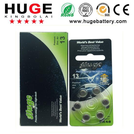 1.4V Zinc Air Battery Hearing Aid Battery A13