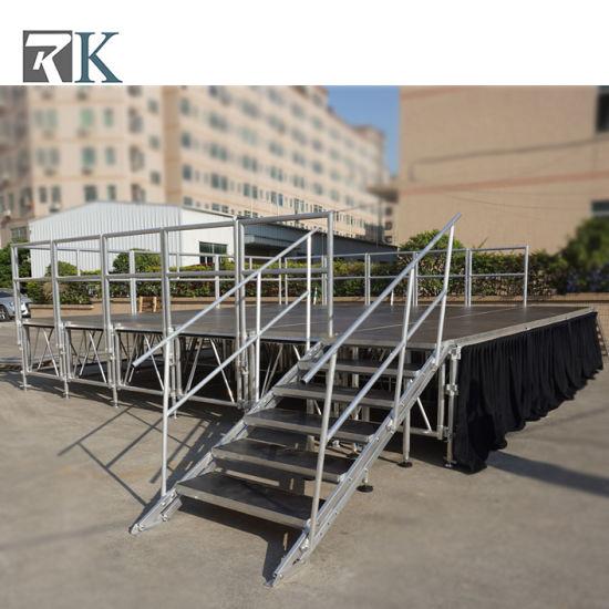 Wholesale Outdoor Concert Stage/Portable Aluminum Stage with Carpet Platform