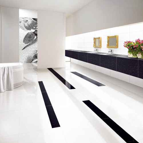 China Foshan 60x60 Carrara White Double Loading Polished Porcelain