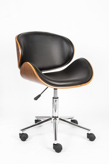 Contemporary Leather Modern Bentwood Chair
