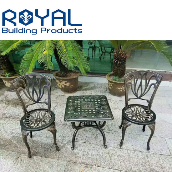 Cast Aluminum Outdoor Chair And Table