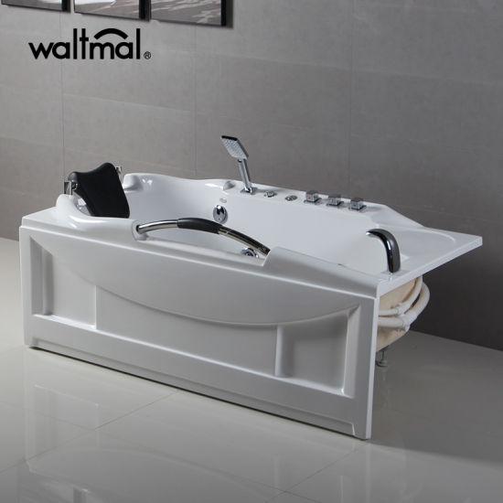 Corner Single 1.5p Pump Strong Rectangular Massage Bathtub