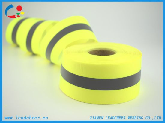 High Visibility Retro Reflective Fabric Sewing Tape for Safety Clothing