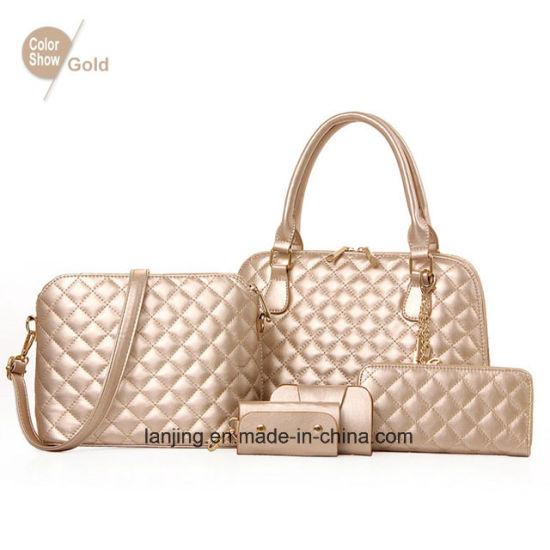 fee2b96168 2018 Amazon Ebay Hot Sale Cheap Price 5PCS Set Leather Ladies Bags Handbag  in China
