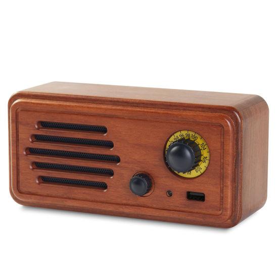 Wholesale Logo Customization New 20W Solid Wood Retro FM Radio MP3 Player Portable Bluetooth Speaker