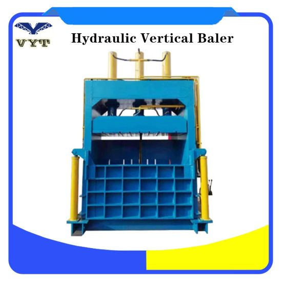 Hydraulic Baler Vertical Used Clothes Cardboard Baling Press Machine