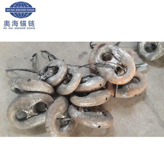 China Supplier Black Painted Kenter Shackle, Steel Kenter Marine Shackle Factory