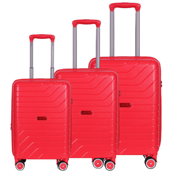 100% PP Matching Color Built-in Tsa Lock Travel Trolley Luggage Suitcase