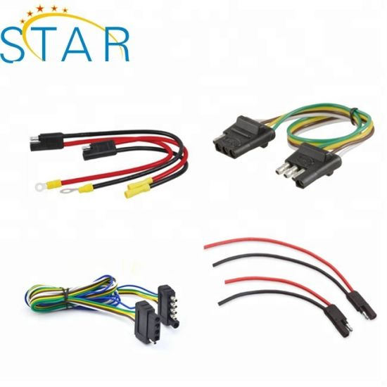 customized automotive 4/5 way trailer light wire harness