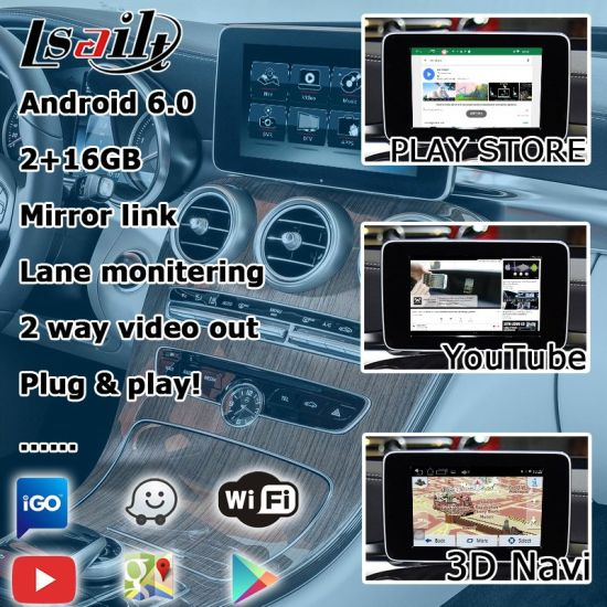 China Lsailt Android GPS Navigation System for Mercedes Benz C Class