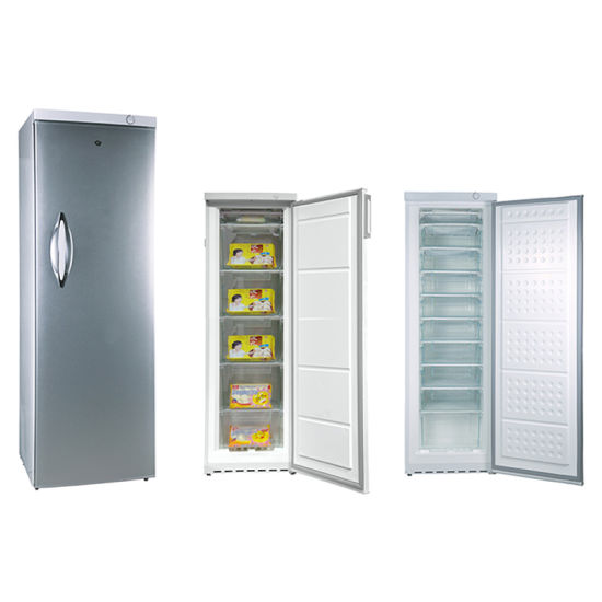 185L Single Door Defrost Vertical Upright Freezer with 6 Drawers