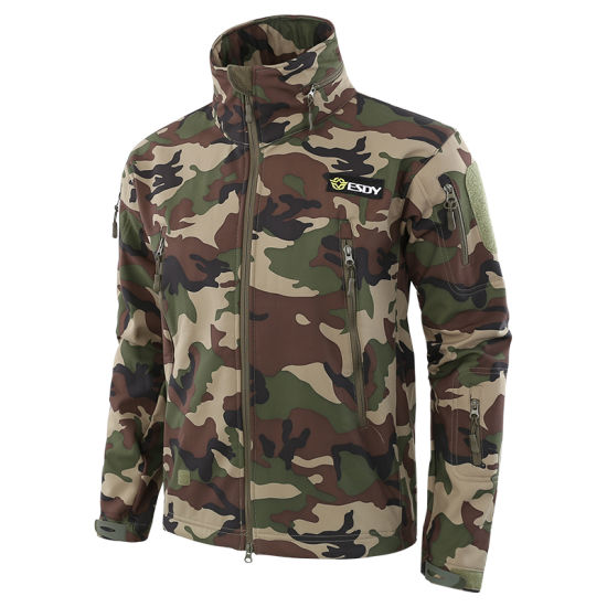 9b5f960f25f20 7-Colors Esdy New Style Outdoor Sports Military Camo Clothing Tactical Softshell  Jacket pictures &