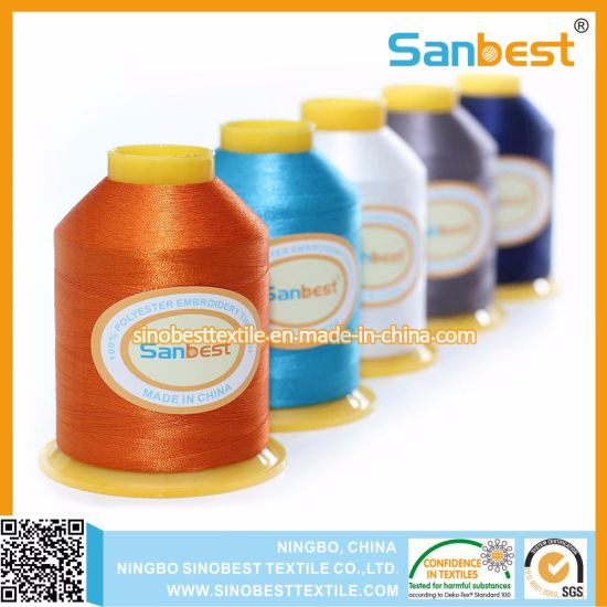 4000m 100% Polyester Embroidery Thread for Embroidery Machine