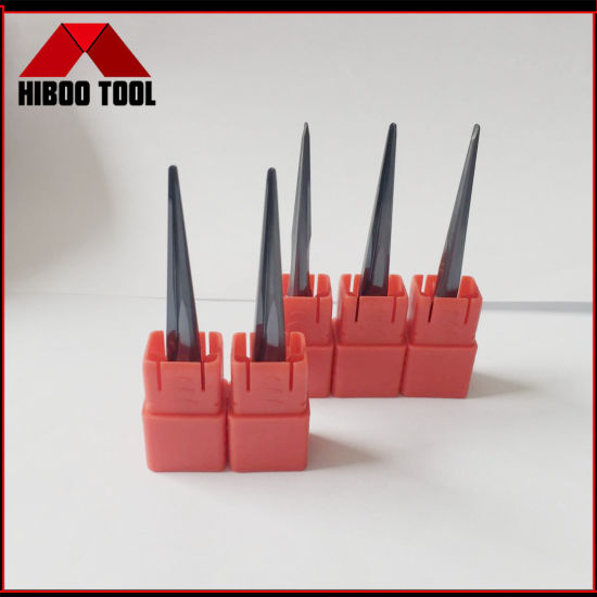 Changzhou Hiboo Factory Outlet Solid Tungsten Carbide Taper Ball Nose End Mill