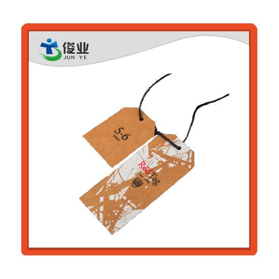 China Customized Kraft Paper China Hang Tag Garment Hang Tag