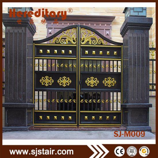 Automatic Aluminum Garden Entrance Security Wrought Iron Gate For Villas