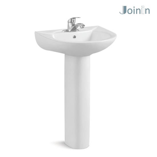 Sanitary Ware Bathroom Ceramic Wash Hand Pedestal Basin From Chaozhou Factory (PB206) pictures & photos