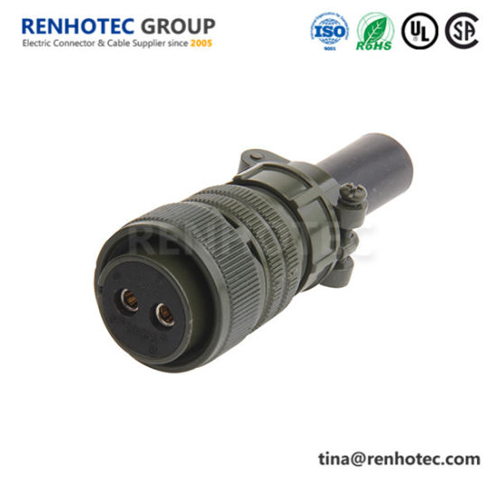 Ms3106A20-23s Jae 2 Position Soldering Plug Circular Connector with Bushing