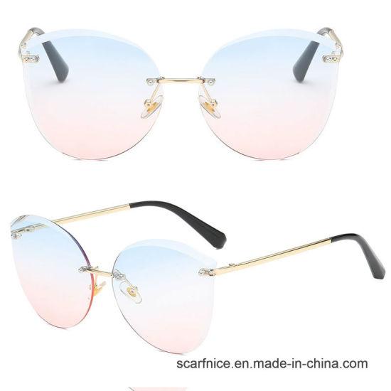 a9bb460ed7d New Cat Eye Sun Glasses Women Brand Designer Luxury Rimless Cateye Mirror Sun  Glasses for Female UV400 - China New Cat Eye Sunglasses