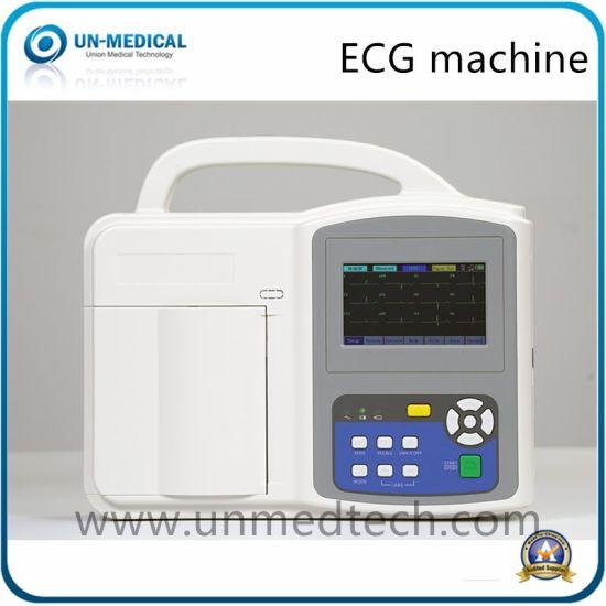 Portable Digital Hospital Electrocardiograph 12 Leads Touch Screen EKG ECG Machine (UN8003)