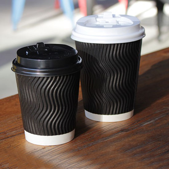 China Custom Print 8oz 12oz 16oz Ripple Wall Disposable Hot Beverage